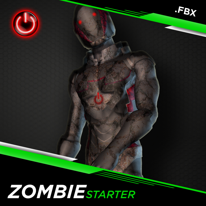 [FBX] ZOMBIE STARTER: 3D CHARACTER ANIMATION PACK