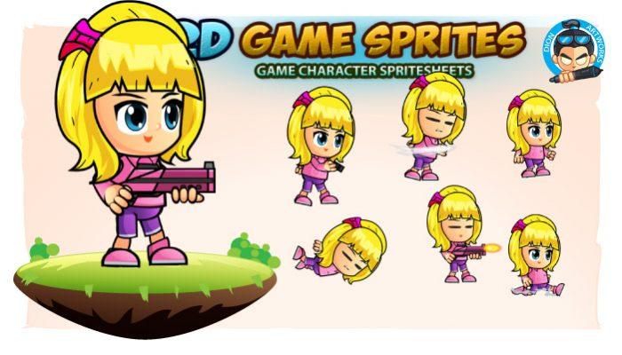 Anna 2D Game Sprites