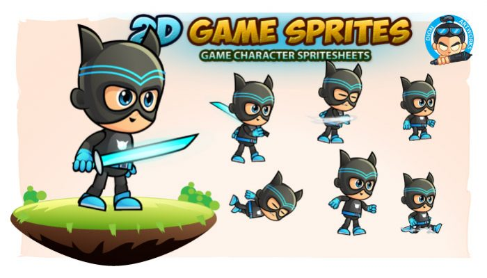 CatBoy Game Character Sprites