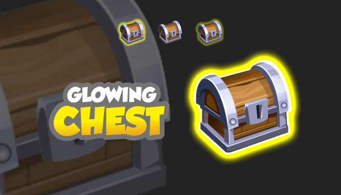 2D Assets – Glowing Chest Sprites