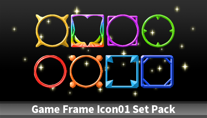 Game Frame Icon01 Set Pack