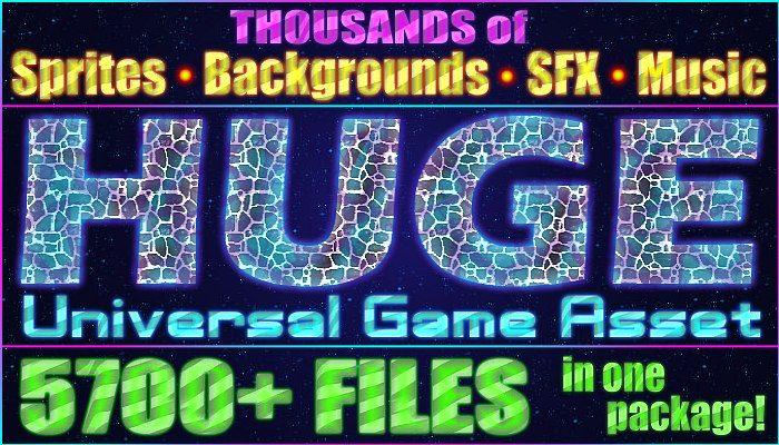HUGE Universal Game Asset: 5700+ Items!