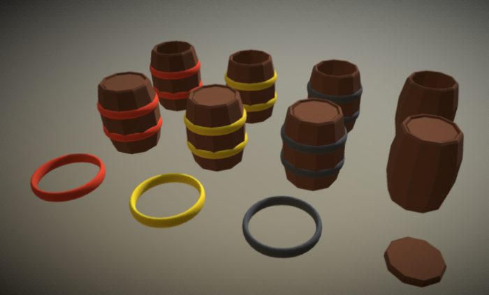 Barrel Low Poly