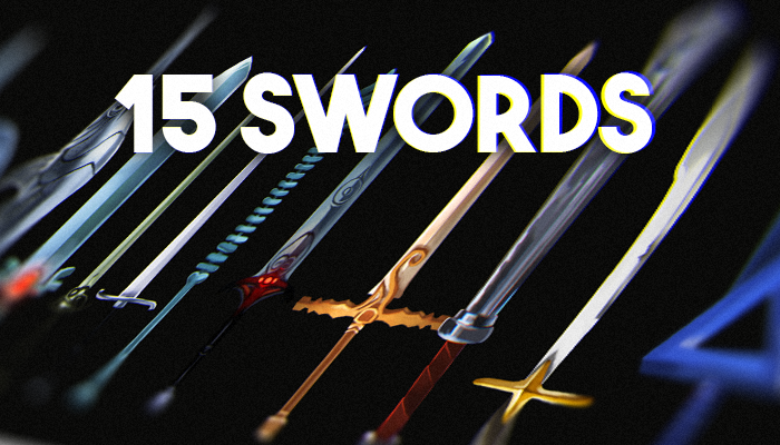 Realistic Medieval Swords 15 Pack