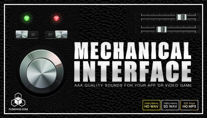 MECHANICAL USER INTERFACE SOUND EFFECTS LIBRARY – Button Clicks, Swipes, Notifications, Achievements