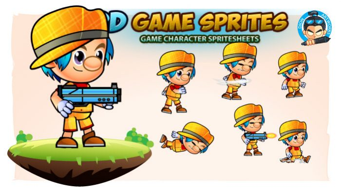 Rodge 2D Game Character Sprites