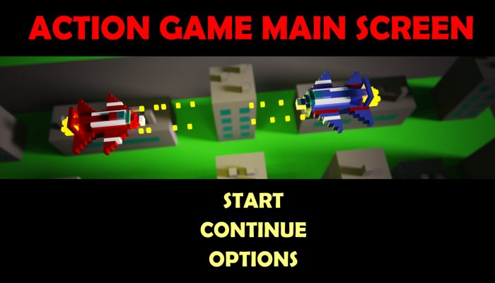 Action Game Main Screen