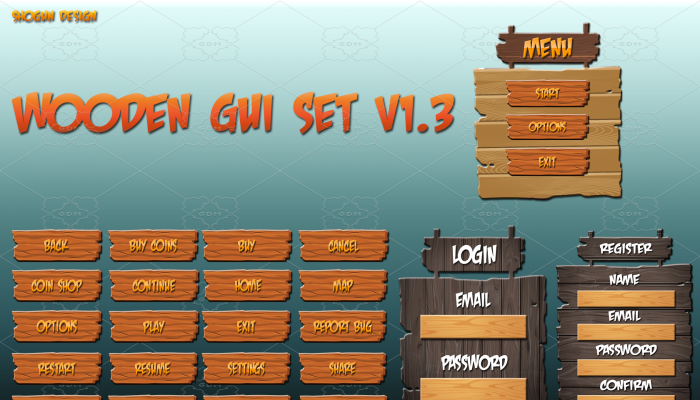 Wooden GUI Set v1.3