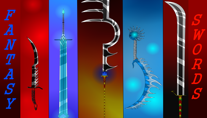 Fantasy sword pack for 2D game
