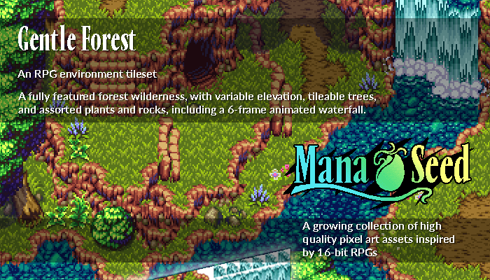 Gentle Forest – Pixel Art Asset