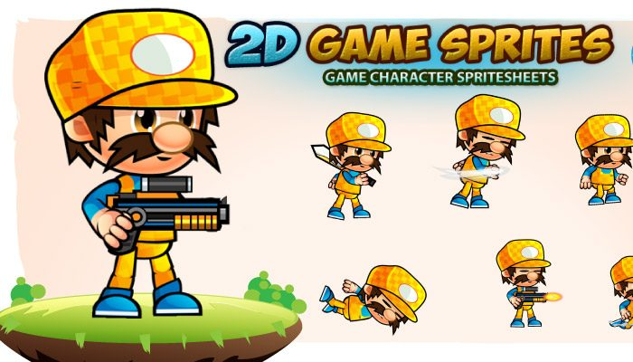 Kenneth 2D Game Sprites