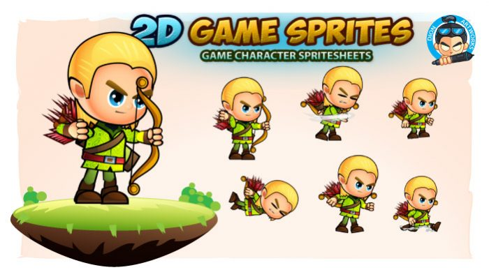 Elf 2D Game Character Sprites