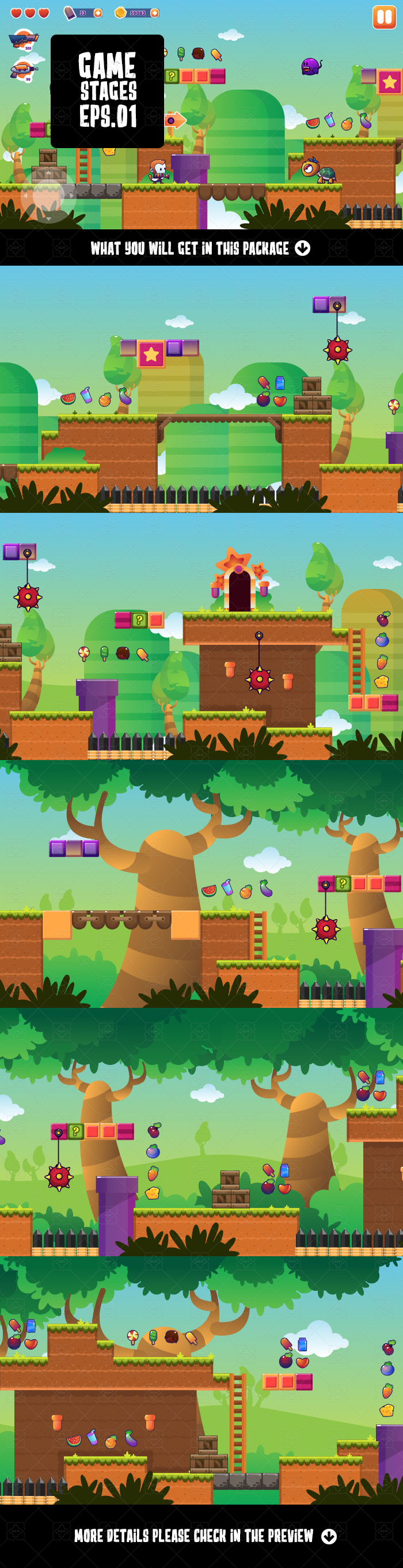 Platformer Game Stages 1