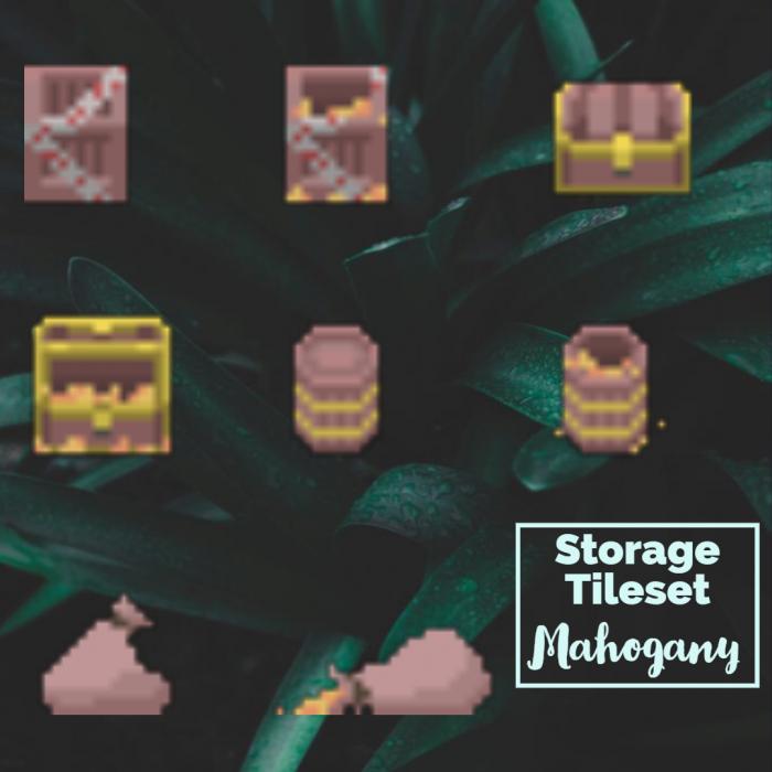 Mahogany Storage Container Tiles