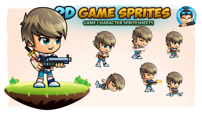 SwordsMan 2D Game Character Sprites