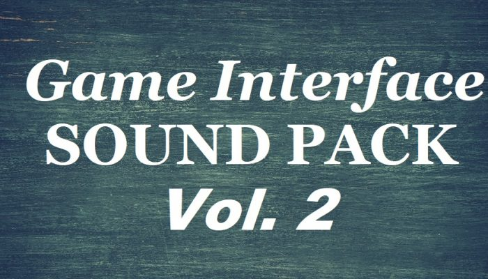 Game Interface Sound Pack Vol. 2