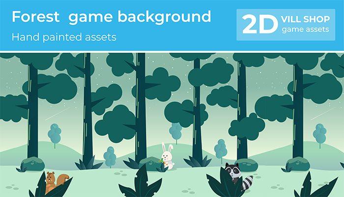 2D Cartoon Forest Friends