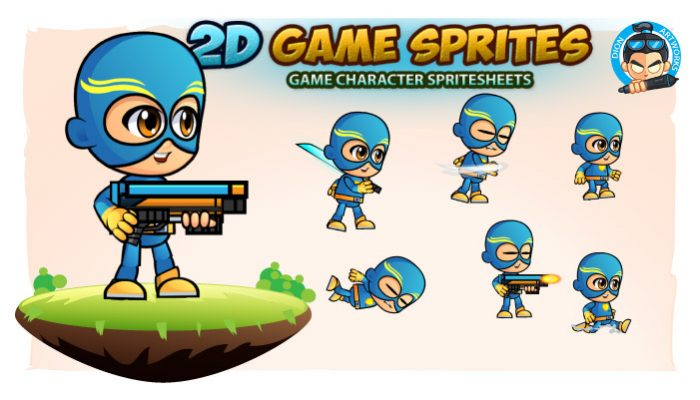 SuperJack 2D Game Sprites