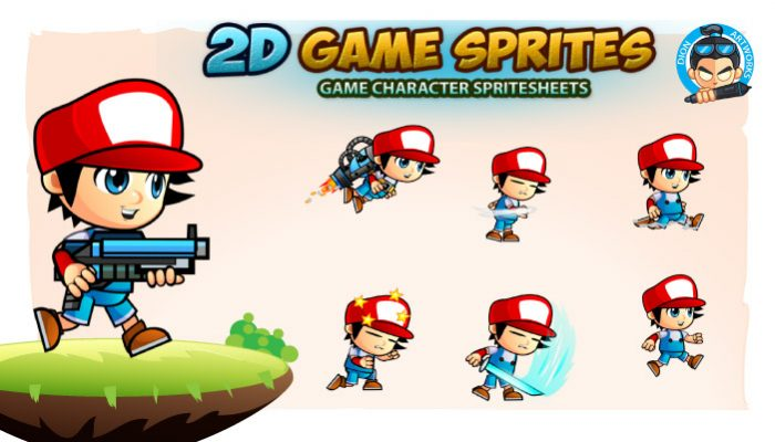 Boy George 2D Game Character Sprites