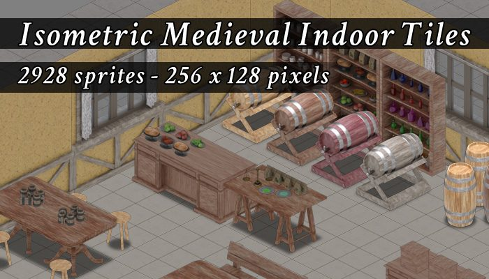 Isometric Medieval Indoor Tiles