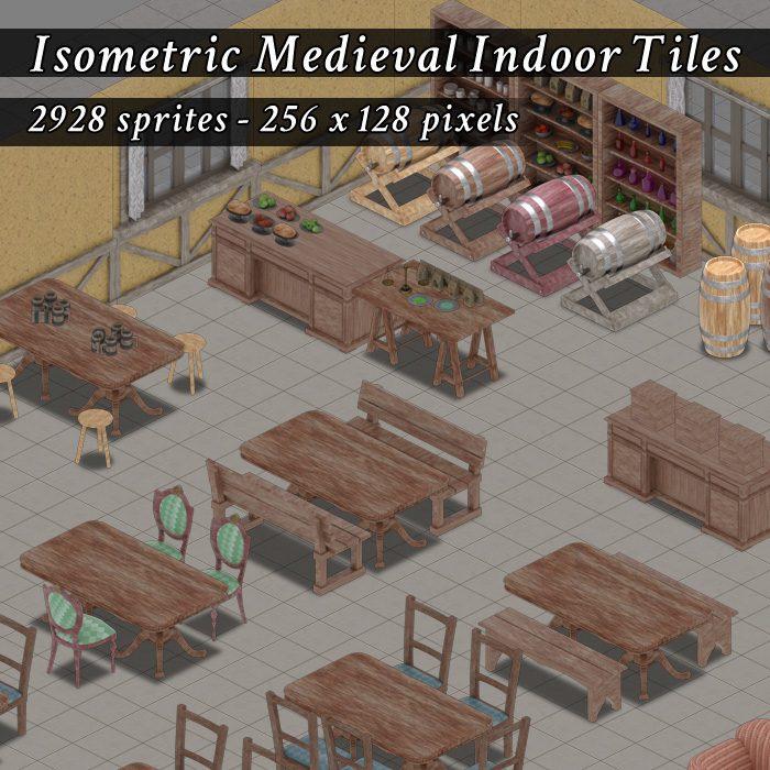 Isometric Medieval Indoor Tiles
