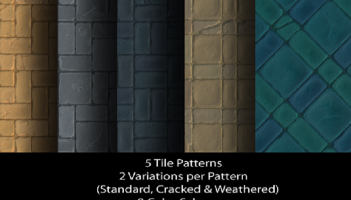 Tileable Stylized Dungeon Floors – Volume 1