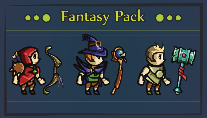 Fantasy Pack – 3 Character Classes