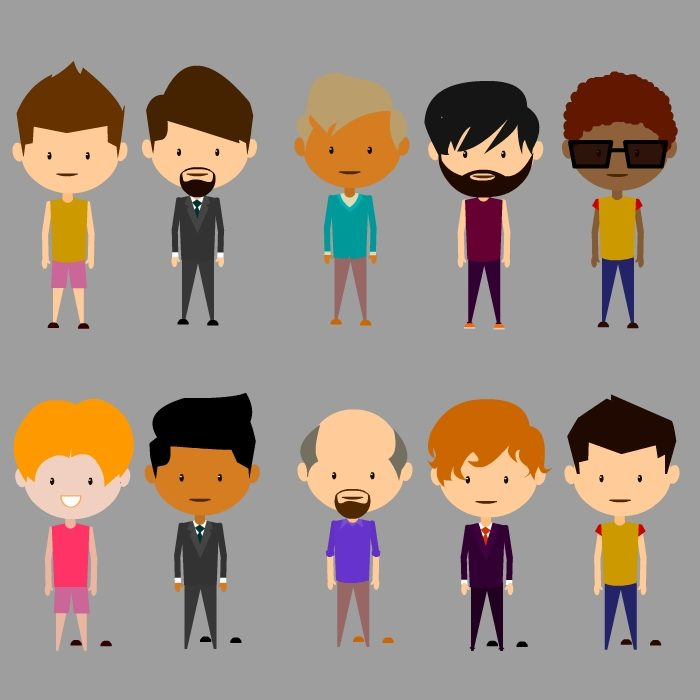 Customizable Male characters vector