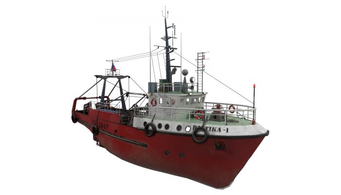 Small-sized fishing trawler refrigerator type Baltika