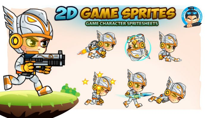 Eagle Warrior 2D Game Sprites