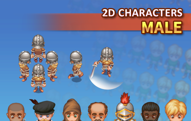 2D Characters – Male
