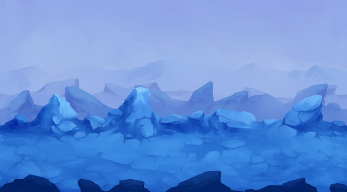 2D Iceland Parallax Background
