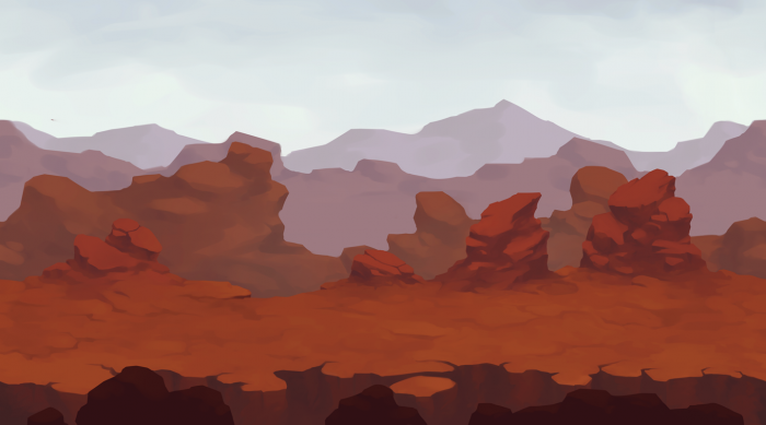 2D Canyon Parallax Background