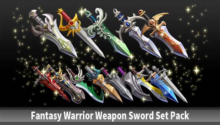 Fantasy Warrior Weapon Sword Set Pack
