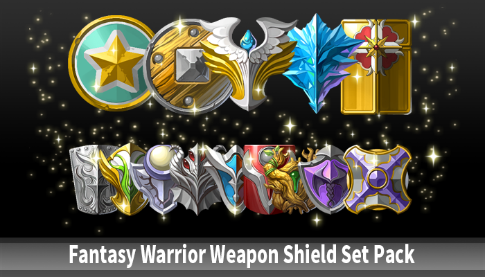 Fantasy Warrior Weapon Shield Set Pack
