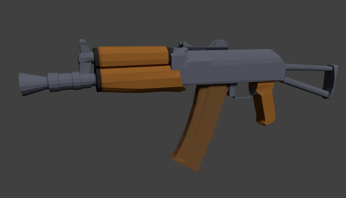 Low Poly AK SU