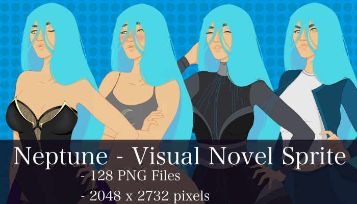 Visual Novel Character – Neptune