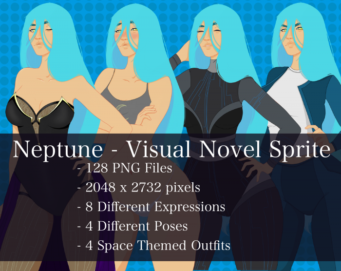 Visual Novel Character – Neptune