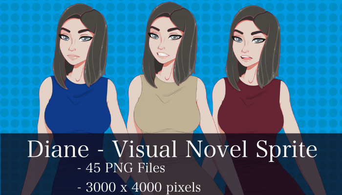 Visual Novel Character – Diane