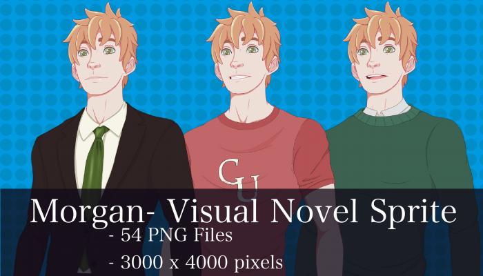 Visual Novel Character – Morgan
