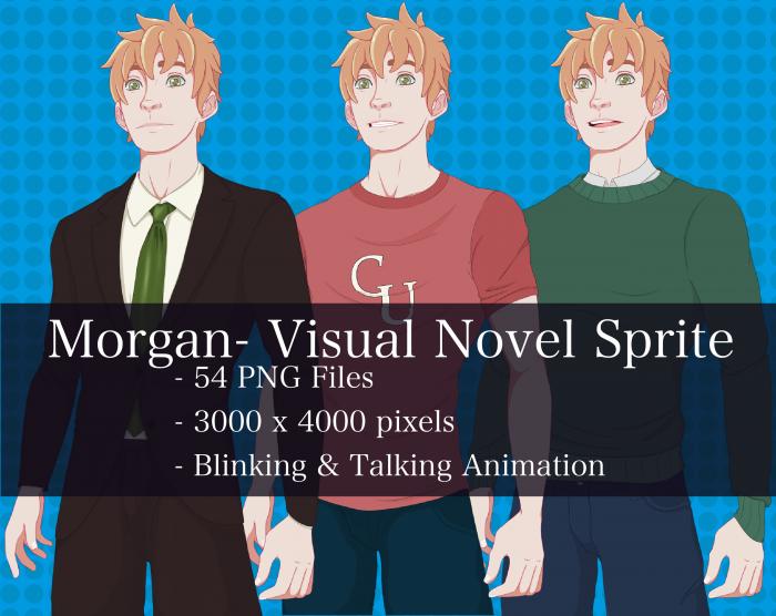 Visual Novel Character – Morgan