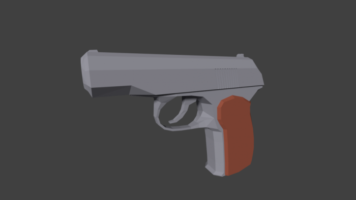 Low Poly Makarov