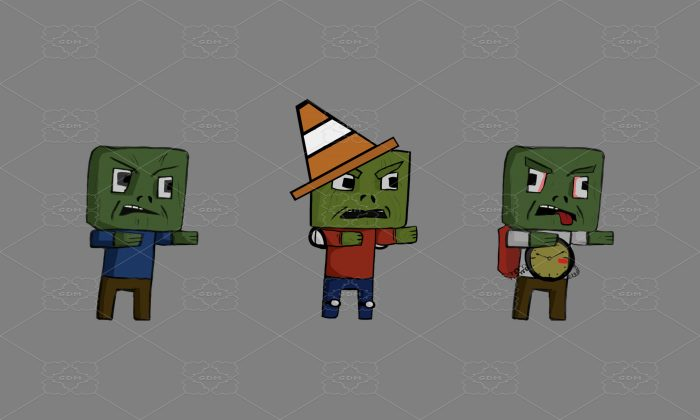 2D GAME ZOMBIE CHARACTERS