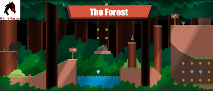 Forest plataform tileset