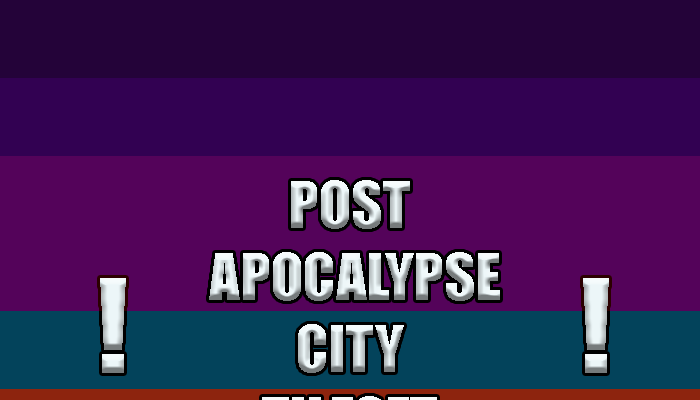 Post apocalypse city tileset