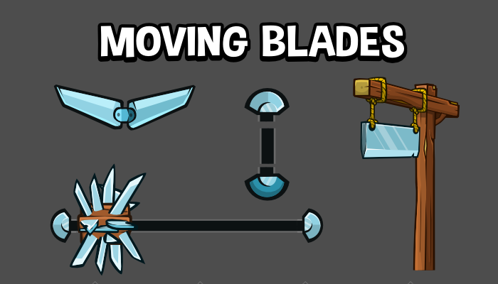 Moving blade traps 2d game assets