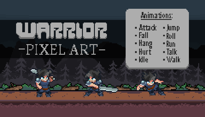 WARRIOR PIXEL ART