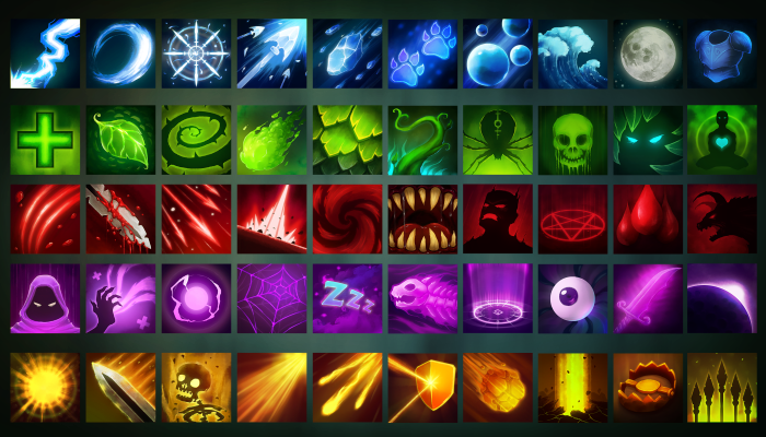 Medieval Fantasy Skill and Magic Icons