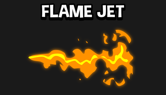 Flame jet 2d fire effect