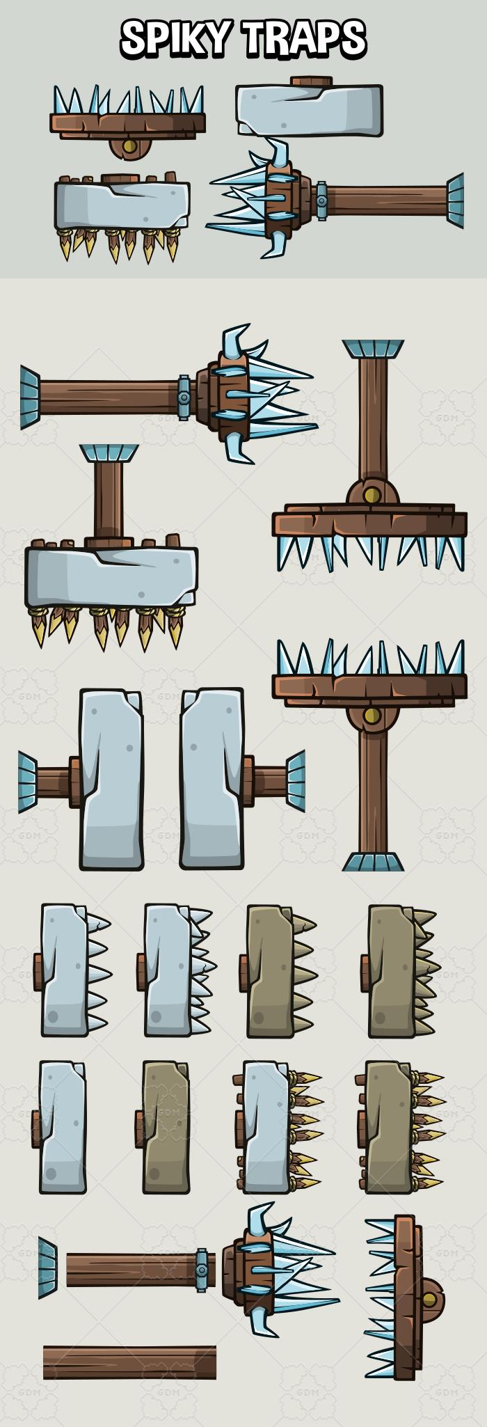 Spiky dungeon press traps